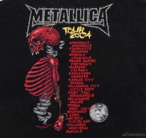 Tshirt Metallica St Anger Black metallica vintage t shirt tour concert 2004 pushead madly