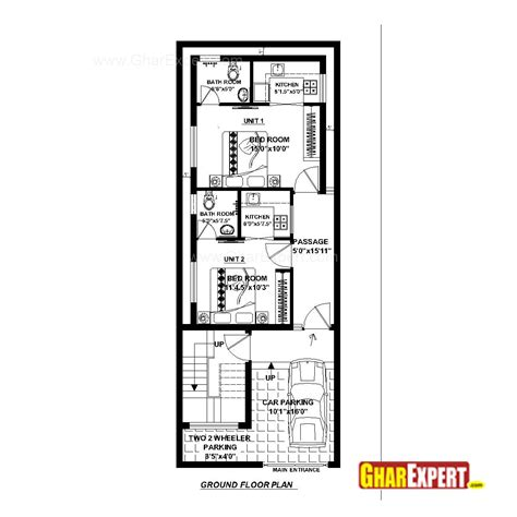 20 x 50 square feet home design house plan for 20 feet by 52 feet plot plot size 116