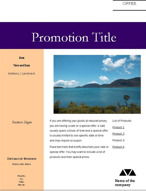 sle brochure templates templates flyers special offers business flyer