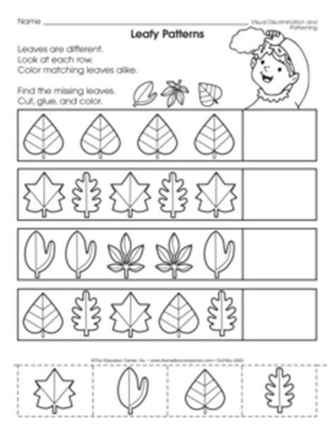 leaf pattern worksheet results for leaf pattern kindergarten worksheet