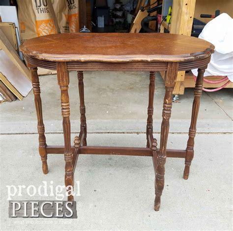 antique side table antique side table with refreshed look prodigal pieces