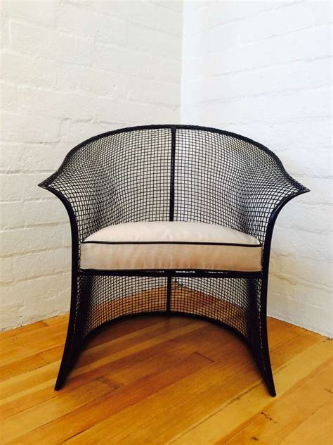 Woodard Patio Chairs Gorgeous Pair Of Mesh Woodard Patio Chairs At 1stdibs