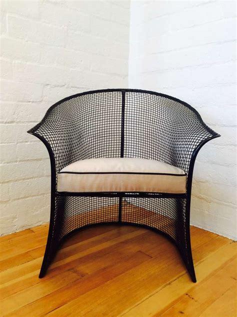 Woodard Patio Chairs Gorgeous Pair Of Mesh Woodard Patio Chairs At 1stdibs