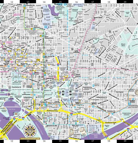 streetwise washington dc map laminated city center map of washington dc michelin streetwise maps books washington dc map of cities