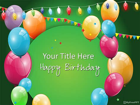 Free Birthday Celebration Powerpoint Templates Myfreeppt Com Powerpoint Birthday Template