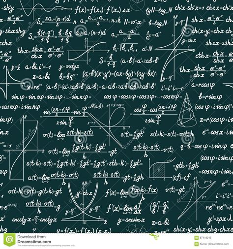 pattern math formula vector mathematical seamless pattern stock vector image