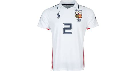 Dress Jersey Korea ralph korea jersey polo shirt in white for lyst