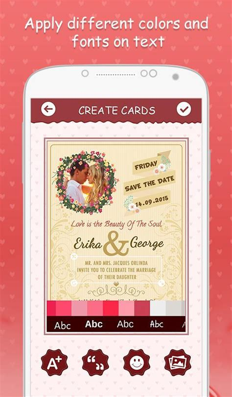 Wedding Invitation Card Description by Wedding Invitation Cards Android Photography App Source Code