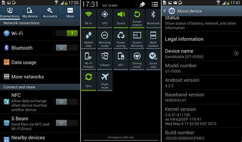 android firmware official android 4 2 2 xxufme3 firmware for galaxy s3 i9300 jb