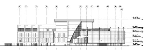 section elevation drawing commercial projects building section and elevation