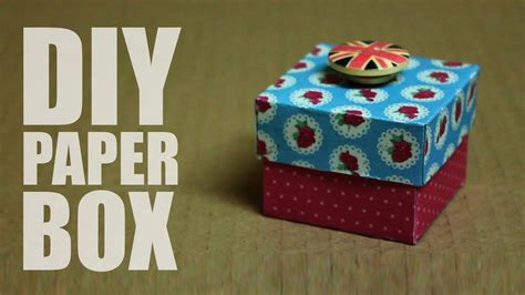 How To Make A Paper Box That Opens - how to make a paper box with a lid that opens easy