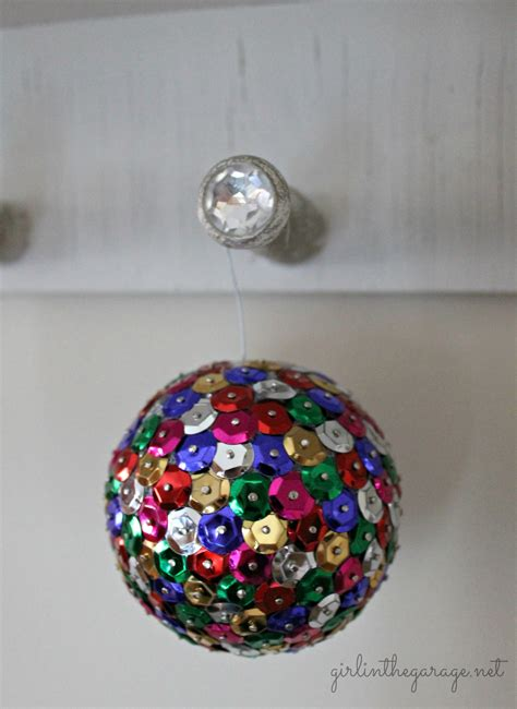 sequin and tack ornaments live creatively inspired