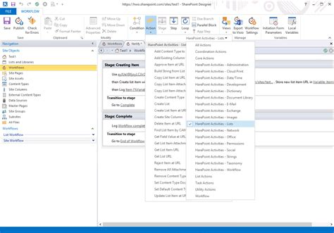 workflow in office 365 harepoint workflow extensions for office 365 screenshots