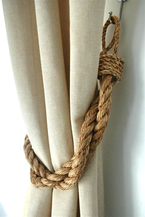 rustic manila rope curtain tiebacks shabby chic vintage nautical chunky thick industrial