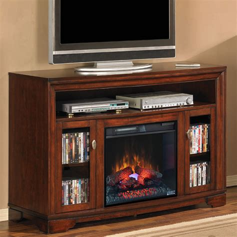 electric fireplace media stands palisades 23 quot empire cherry media console electric