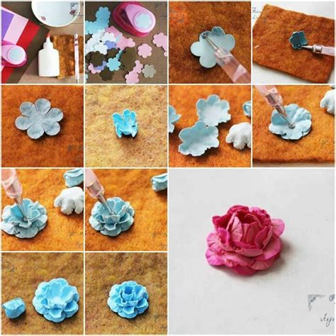 Steps For Paper Flowers - handmade flowers tutorial modern magazin