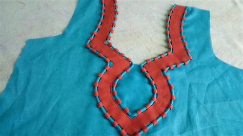 boat neck piping how to sew piping neck design art craft ideas