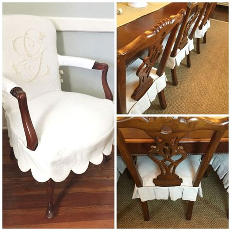 how to make a dining room chair slipcover best 25 dining chair slipcovers ideas on pinterest