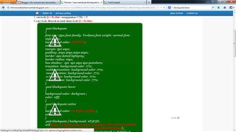 cara membuat html keren cara membuat blockquote keren untuk blog info menarik