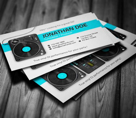 dj business card template psd free amazing dj business cards psd templates design graphic