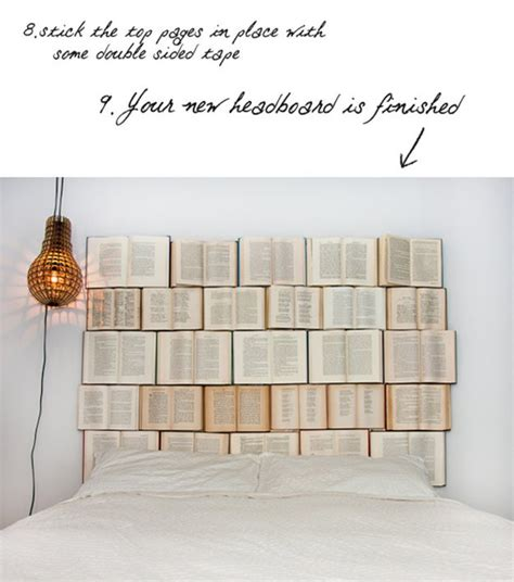 diy book headboard 9 diy projects made from old books art of upcycling