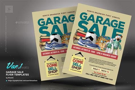 template flyer envato garage sale flyer templates by kinzishots graphicriver