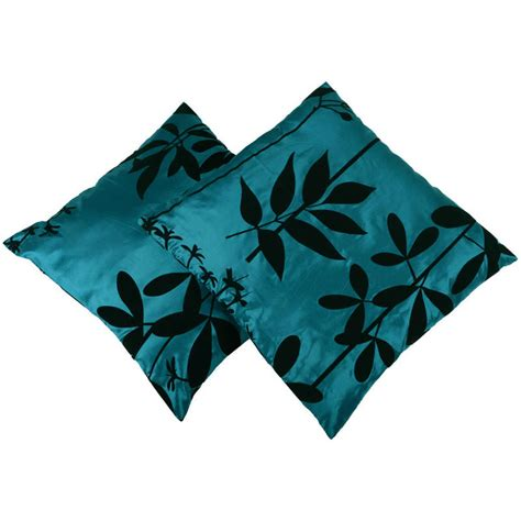 teal couch covers 2 pack teal cushion covers flocked design sofa bed pillow
