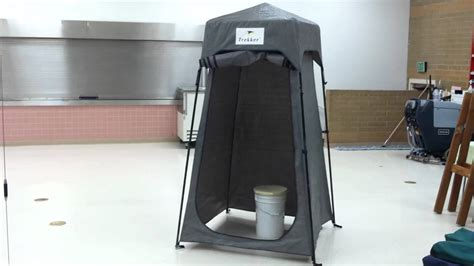 tent bathroom portable toilet tent set up youtube