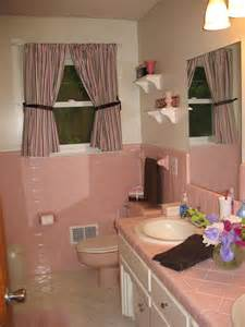 pink and brown bathroom ideas same config as my pink bath like that shape for curtains