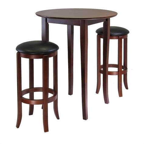 pub dining set winsome fiona 3 pub dining set in antique walnut 94381