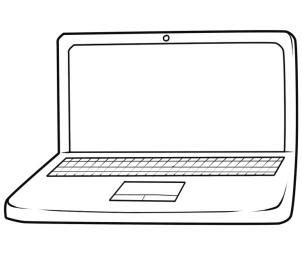 how to draw on a computer how to draw a laptop step by step stuff pop culture