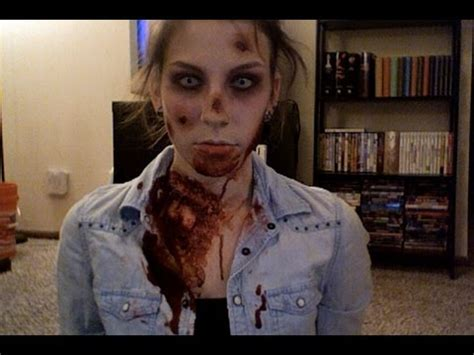 zombie girl makeup tutorial zombie halloween makeup tutorial youtube
