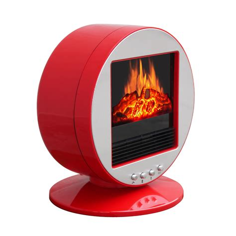 desk space heater corliving desktop fireplace space heater silver