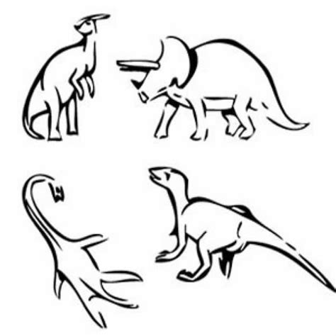 dino doodle dino mix doodle in simple line free animal vectors