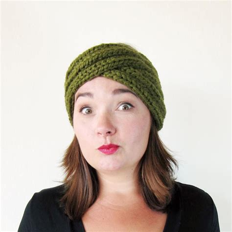 knit turban headband knit turban headband pattern crochet and knit