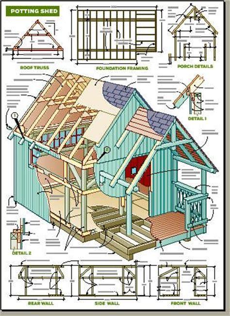 Potting Shed Plans by Details Potting Shed Plan Tool Amp Potting Sheds Pinterest