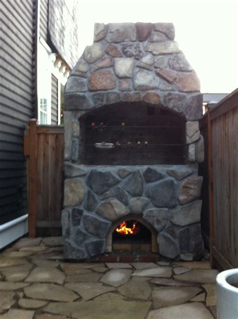 diy pit pizza oven bbq pit and 36 quot pompeii combo forno bravo