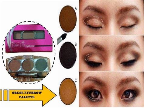 3 In 1 Obuse Eyebrow Powder Made Thailand obuse eyebrow purple cosmetic wholesale sdn bhd