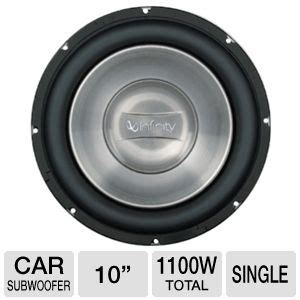 Subwoofer Infinity 10 Single Coil infinity ref1062w 10 subwoofer 1100 watts total dual voice coil 94db sensitivity single at
