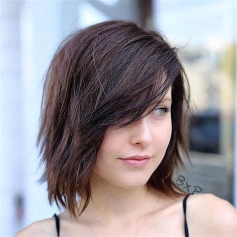 bobhaircut with side bangs wispy sides best 25 cute side bangs ideas only on pinterest side