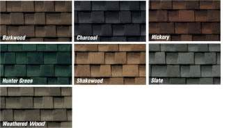 architectural shingle colors roofing shingles roof shingle colors
