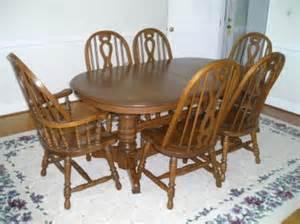 Richardson Brothers Dining Room Furniture Oak Dining Room Set Sold
