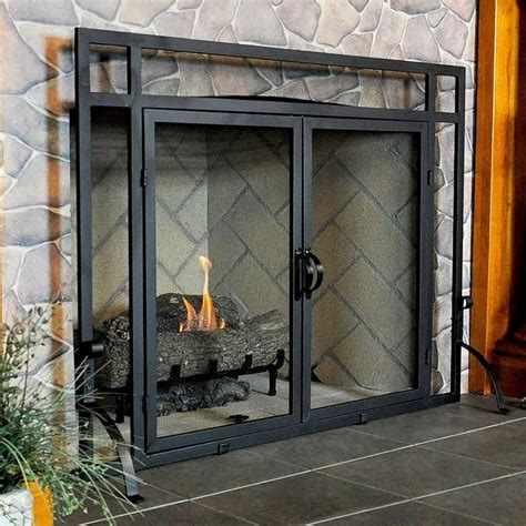 Screen Fireplace by Vintage Fireplace Screens With Doors For Family Room