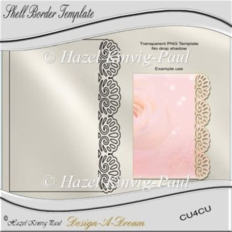 shell card template shell border template 163 2 00 instant card downloads
