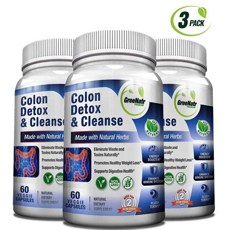 Brain Detox Cleanse by Colon Detox Cleanse 2 X 14 Day Detox Greenatr Premium
