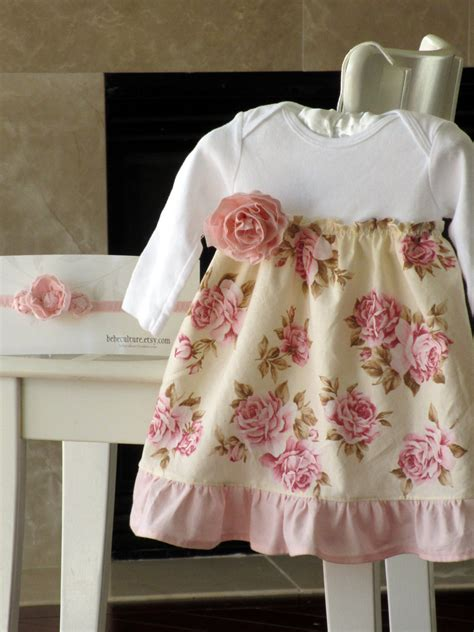 shabby chic baby dress girls floral dress spring by bebeculture