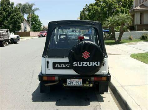 how can i learn about cars 1988 suzuki sj auto manual find used 1988 suzuki samurai jx sport utility 2 door 1 3l in chula vista california united