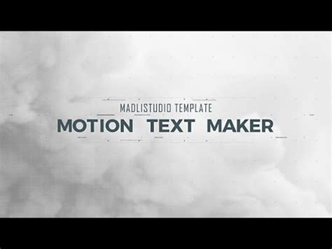 motion text maker after effects template youtube