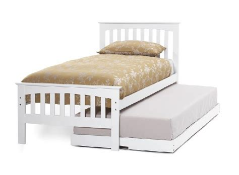 Serene Amelia 3ft Single White Wooden Guest Bed Frame By Single White Bed Frames