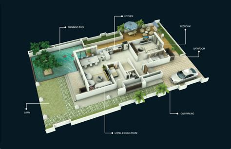 3d ground floor plan l amour calmare